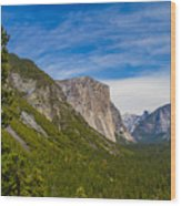 North Side Of South Valley Of Half Dome Wood Print