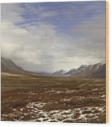 North Slope Dalton Highway Arctic Alaska Wood Print