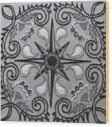 North Star Wood Print by Carolyn Powers