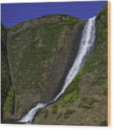 North Table Mountain Spring Falls Wood Print