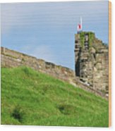 North Tower- Tutbury Castle Wood Print