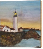 North Truro Light House Cape Cod Wood Print