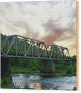 North Umpqua Crossing Wood Print