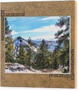 North View Wood Print