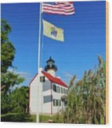 North Wind At East Point Light Wood Print