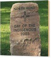 North Wind Wood Print