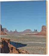 North Window View Wood Print