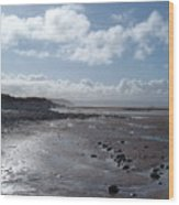 Northam Burrows Beach Wood Print