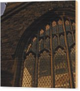 Northampton Church At Dusk Wood Print