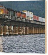 Northbound At Dusk Wood Print