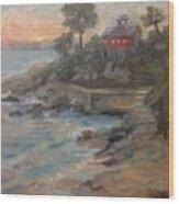 Northeast Sunset Wood Print