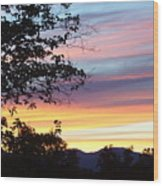 Northern Ca June Sunset  Wood Print