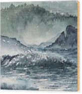 Northern California Coast Wood Print