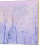 Northern California Pastel Sunset Wood Print
