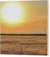 Northern California Sunrise Wood Print