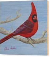 Northern Cardinal 2 Wood Print