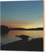 Northern Dusk Wood Print