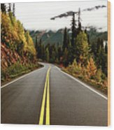 Northern Highway Yukon Wood Print