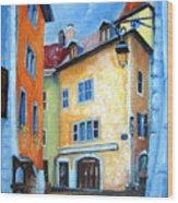 Northern Italian Town Wood Print