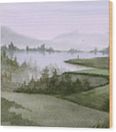 Northern Lake Golf Wood Print