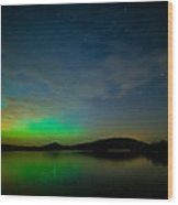 Northern Light In Co. Clare Wood Print