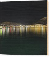 Northern Light On The Sea Wood Print