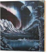 Northern Lights Aurora Borealis Wood Print