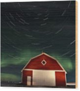 Northern Lights Canada Barn Wood Print