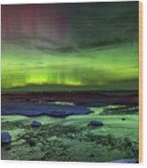 Northern Lights Pendells Creek -7824 Wood Print
