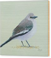 Northern Mockingbird Wood Print