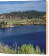 Northern New Mexico Lake Wood Print