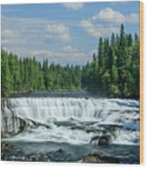 Northern Waterfall Wood Print