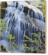 Northfork Falls Wood Print
