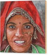 Northindian Woman Wood Print