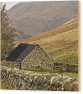Northumberland, England Stone House Wood Print