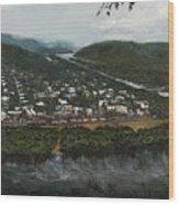 Northumberland On The Susquehanna River Wood Print