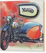 Norton Side Car Wood Print