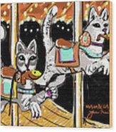 Norumbega Cats Wood Print