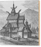 Norway: Borgund Church Wood Print