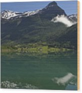 Norway, Briksdal Glacier At Jostedal Wood Print by Keenpress