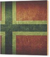 Norway Distressed Flag Dehner Wood Print