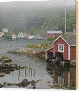 Norway, Fishing Village Wood Print