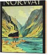 Norway Orient Cruises, Vintage Travel Poster Wood Print