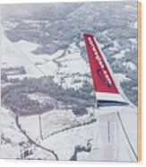 Norwegian Aerial Wood Print