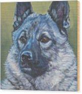 Norwegian Elkhound Wood Print