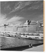 Norwegian Epic Visit Wood Print
