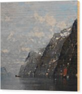 Norwegian Fjord Landscape Wood Print