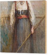Norwegian Girl Wood Print