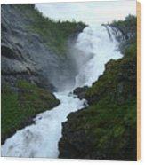 Norwegian Waterfall Wood Print