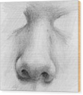 Nose Study - Front Wood Print